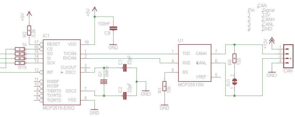 Grundbeschaltung-MCP2515 MCP2551